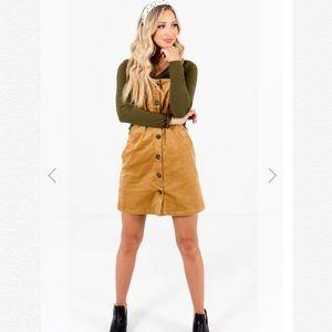 Camel Brown Mini Dress